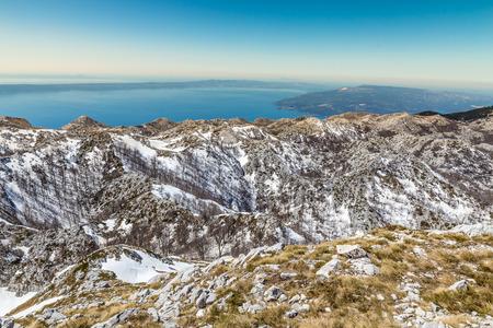 jure: Landscape In Biokovo Mountain Nature Park With Sea In The Background-Biokovo, Dalmatia, Croatia, Europe Stock Photo