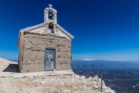 jure: Chapel On The St. George (Sveti Jure) Mountain - Biokovo Mountain, Croatia, Europe Stock Photo