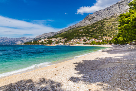 Beautiful Empty Sandy Beach Near Baska Voda - Baska Voda, Makarska, Dalmatia, Croatia