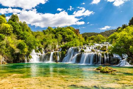 Beautiful Skradinski Buk Waterfall In Krka National Park - Dalmatia Croatia, Europe Foto de archivo