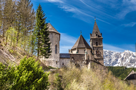 oswald: Gothic Parish Church Of Saint Oswald  - Eisenerz, Styria, Austria, Europe Stock Photo