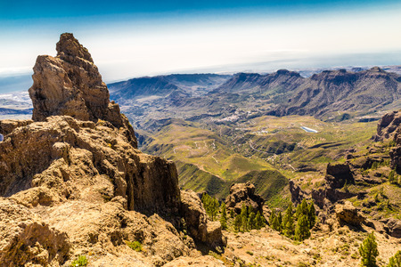 Caldera De Tejeda From Cruz de Tejeda Viewpoint - Tejeda, Gran Canaria, Canary Islands, Spain