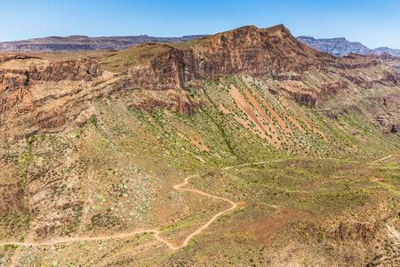 aborigin: Amazing View On Barranco de Guayadeque During Sunny Day - Gran Canaria, Canary Island, Spain, Europe