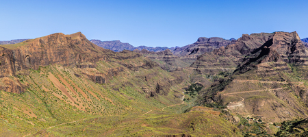 Amazing View On Barranco de Guayadeque During Sunny Day - Gran Canaria, Canary Island, Spain, Europe