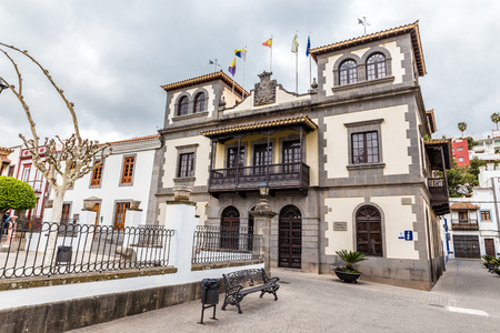 center hall colonial: Town Hall (Casa Consistorial) - Teror, Gran Canaria, Canary Island, Spain, Europe