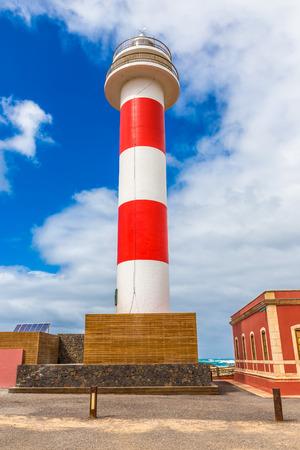 Toston Lighthouse - El Cotillo, Fuerteventura, Canary Islands, Spain Stock Photo