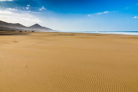 massif: Cofete Beach With Jandia Massif In The Background - Jandia, Fuerteventura, Canary Islands, Spain
