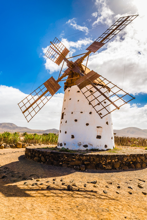 traditional windmill: Traditional Windmill - El Cotillo, Fuerteventura, Canary Islands, Spain