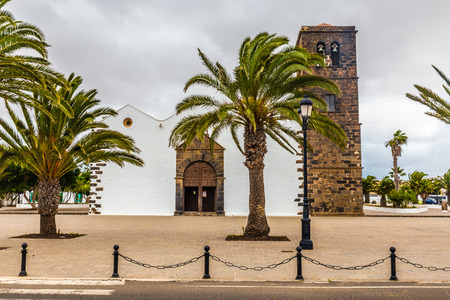 Church of Our Lady of La Candelaria - La Oliva, Fuerteventura, Canary Islands, Spain Stock Photo
