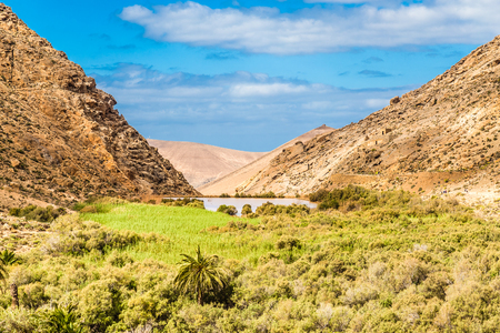 Las Penitas Reservoir - Fuerteventura, Canary Islands, Spain, Europe