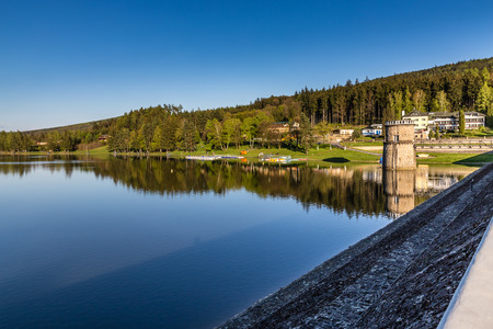 Luhacovice Reservoir - Pozlovice, Czech Republic, Europe Stock Photo