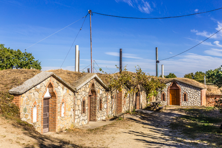 Traditional Wine Cellars - Vrbice, Czech Republic, Europe