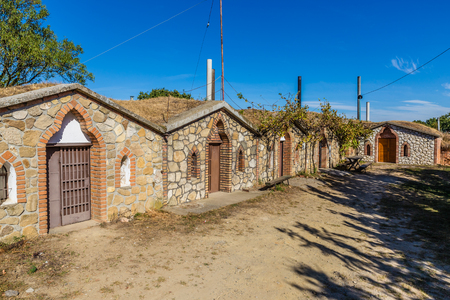 moravia: Traditional Wine Cellars - Vrbice, Czech Republic, Europe