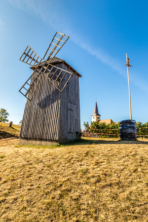 tall chimney: Traditional Wooden Windmill - Vrbice, Czech Republic, Europe