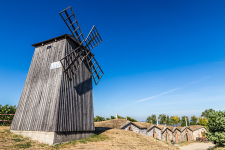 Traditional Wooden Windmill - Vrbice, Czech Republic, Europe