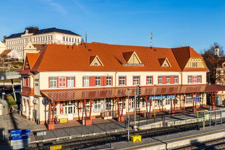 Renovated Railway Station - Uhersky Brod, Czech Republic, Europe Stock Photo