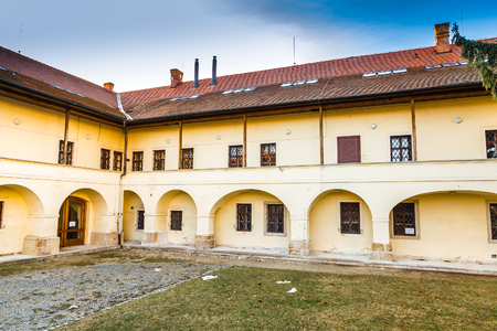 Courtyard Of Dominican Monastery - Uhersky Brod, Czech Republic, Europe Editorial
