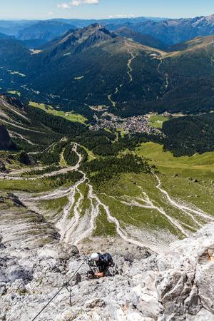 Via Ferrata Colver Lugli - Martino San Di Castrozza, Dolomites, Italy Stock Photo