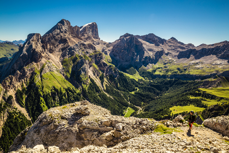 Via Ferrata Finanzieri, Colac Mountain - Dolomites Mountains, Italy, Europe Stock Photo
