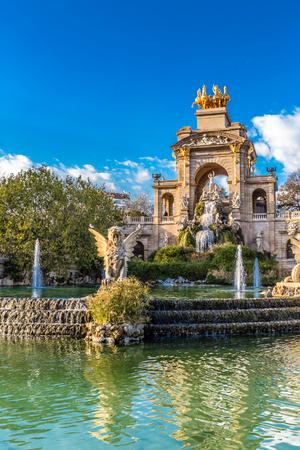 The Cascada Fountain - Parc de la Ciutadella, Barcelona, Catalonia, Spain, Europe Stock Photo