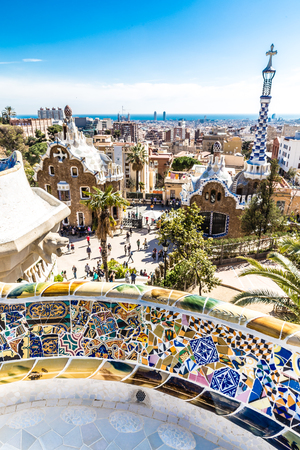 View From Park Guell - Park Guell, Barcelona, Catalonia, Spain, Europe