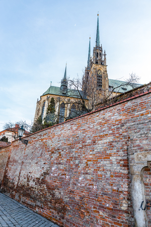 Cathedral of St Peter and Paul Behind The Wall - Brno, Moravia, Czech Republic, Europe