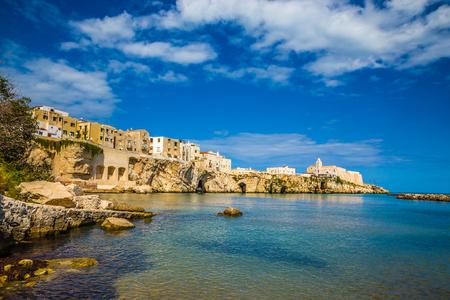 Old Town Of Vieste, Gargano Peninsula, Apulia region, Italy, Europe 写真素材