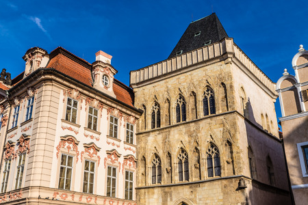 Stone Bell House And Kinsky Palace - Old Town Square, Prague, Czech Republic, Europe