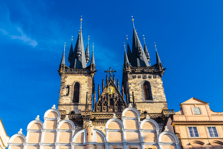 Towers Of Church Of Our Lady Before Tyn - Old Town Square, Prague, Czech Republic, Europe