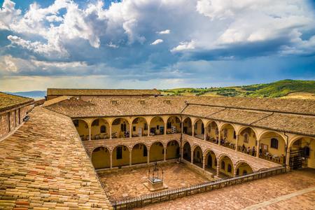 Papal Basilica of Saint Francis of Assisi - Assisi, Province of Perugia, Umbria Region, Italy, Europe Stockfoto