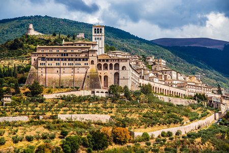 Panorama of Assisi - Province of Perugia, Umbria Region, Italy, Europe Reklamní fotografie