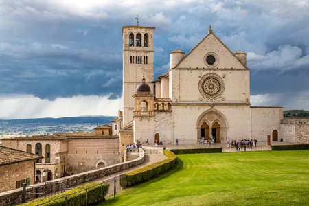 Papal Basilica of Saint Francis of Assisi - Assisi, Province of Perugia, Umbria Region, Italy, Europe Stock fotó