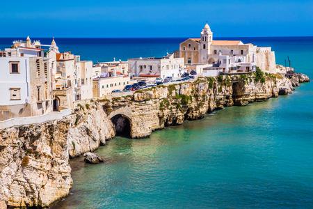 Old Town Of Vieste, Gargano Peninsula, Apulia region, Italy, Europe Stok Fotoğraf