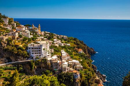 Village On Amalfi Coast - Salerno Province, Campania Region, Italy, Europe Stock Photo