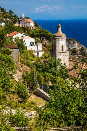 Churches On Amalfi Coast - Salerno Province, Campania Region, Italy, Europe Stock Photo