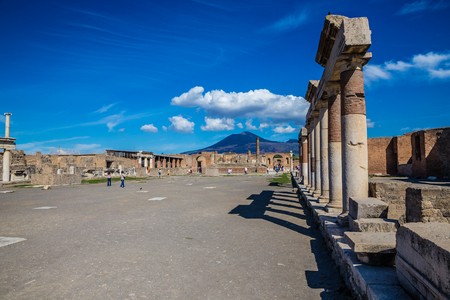 The Forum In Pompeii - Province Of Naples, Campania Region, Italy