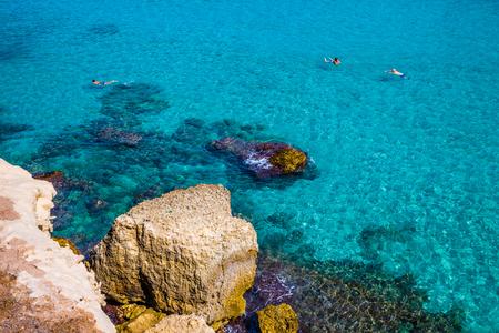 Rock And Turquoise Sea - Lecce, Puglia, Italy