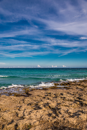 Punta Prosciutto Beach - Lecce, Italy, Europe Фото со стока