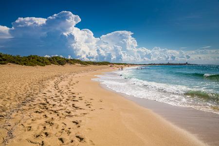 Punta Prosciutto Beach - Lecce, Italy, Europe Imagens
