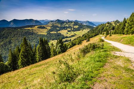 Walking Path On Zwolferhorn Mountain - Salzkammergut, Salzburg, Austria