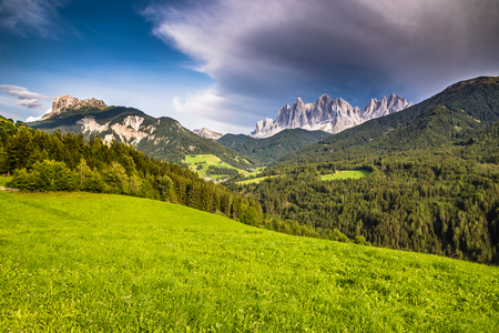 Geisler (Odle) Dolomites Mountain Peaks  - Val Di Funes, South Tyrol, Italy