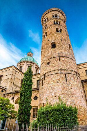 Tower Of Ravenna Cathedral - Ravenna, Emilia Romagna, Italy, Europe 스톡 콘텐츠