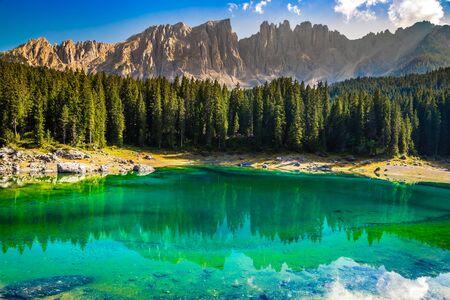 Lake Carezza - Bolzano, South Tyrol, Italy, Europe
