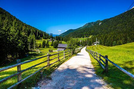 Road Through Val Di Funes - Bolzano, South Tyrol, Italy, Europe