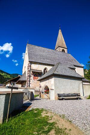 Santa Maddalena Church - Val Di Funes, South Tyrol, Italy Фото со стока