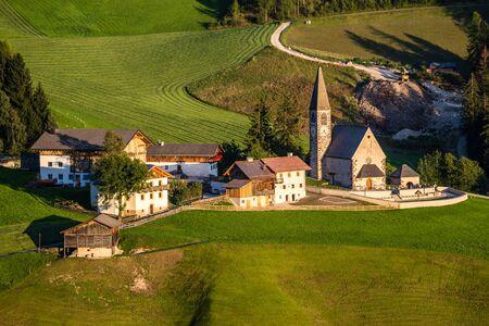 Santa Maddalena Church During Sunset - Val Di Funes, South Tyrol, Italy
