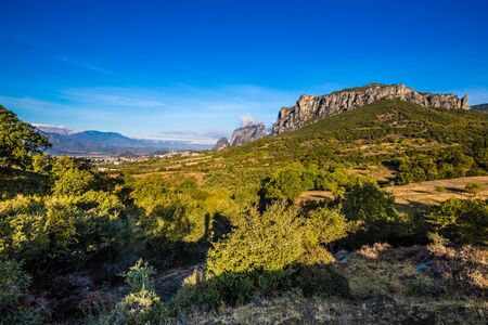 Meteora Landscape - Thessaly, Greece, Europe Stockfoto - 133205793