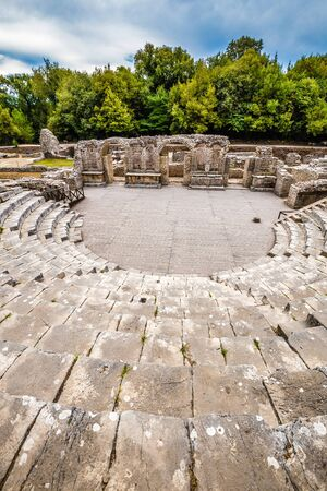 Theatre In Butrint National Park - Vlora, Albania, Europe Stock Photo