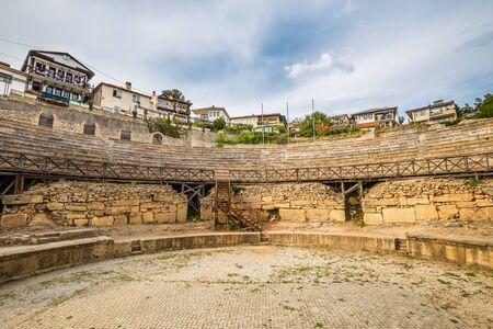 Ancient Theatre of Ohrid - Ohrid, Macedonia, Europe 스톡 콘텐츠