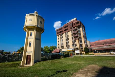 Old Water Tower And Hotel Danube - Vukovar, Podunavlje, Croatia, Europe